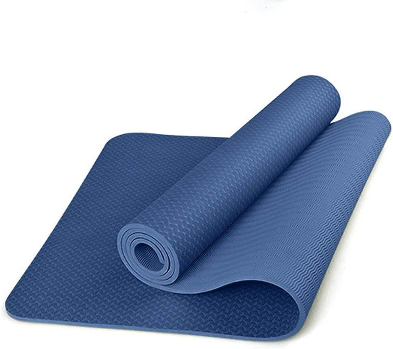 KYCD Yogamatte, Gymnastikmatte, Rutschfest, extra dick, 6 mm, umweltfreundlich, geschmacklos, Rutschfest, für Sport, Fitness, einfarbig, Yogamatte