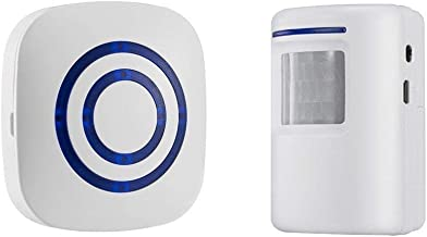 ELEAD Motion Sensor Ring Doorbell Wireless Driveway Long Range Home Security Visitor Door Bell Chime with 1 Plug-in Receiver and 1 PIR Motion Sensor Detector Alert System