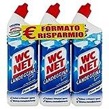 Wc Net - Candeggina Gel Extra White, Detergente per Sanitari e Superfici, Fragranza Ocean Fresh, 700 ml x 3 Confezioni