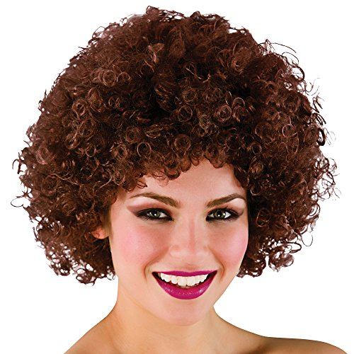 Funky Afro Brown Perruque - Halloween / Carnaval Accessoire Fancy Dress 120Gm - Taille unique