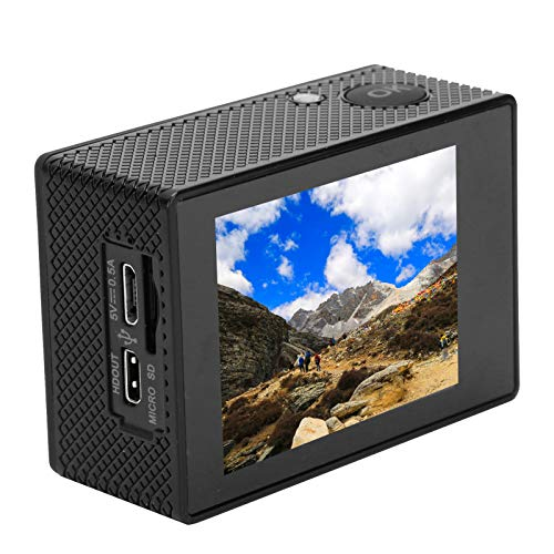 Mini cámara Exterior 4K HD Cámara Deportiva multilingüe con rotación de 180 ° Cámara de acción para Windowsxp/VistaorAbove / Win7 / Mac os