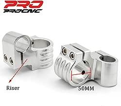 PROCNC motorcycle Clip ons Handlebar 50mm Φ replacement Fit for Honda CBR500R/CBR600F 1987-1998/GSF 400/600 bandit/SV650 Universal cafe Racer Tilt Angle 8° 7/8