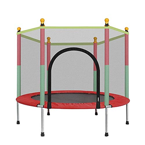 NEWRX Large 140cm Indoor Trampoline with Protection Net Adult Children Jumping Bed Outdoor Trampolines Exercise Bed Fitness Equipment (Color : A)