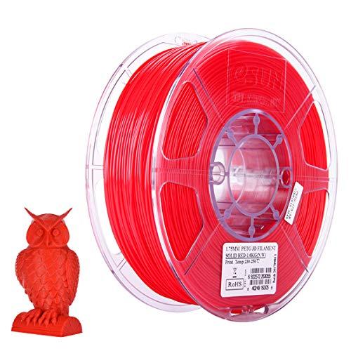 Aibecy eSUN PETG 1.75 mm Impresora 3D Filamento Consumibles de impresión Precisión dimensional: +/- 0.05 mm 1 kg (2.2lb) Recargas de material de carrete