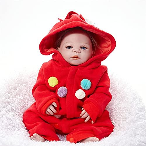 Little Red Riding Hood Girl, Life Real Baby Muñecas Soft Silicone Vinilista Realista Bebé Recién Nacido con Imán Libre Chupete Noche De Niños Amigo