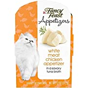 Purina Fancy Feast Broth Wet Cat Food Complement, Appetizers White Meat Chicken - (10) 1.1 oz. Trays