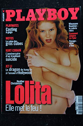 PLAYBOY 017 2001 OCTOBRE COVER LOLITA HEATHER CHRISTENSEN KURT COBAIN WIESMANN CRISTA NICOLE NUDES