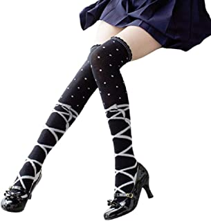 6b8da2398c3 GK-O Cute Lolita Over knee Kawaii Ballet Thigh High Socks Dance Cosplay