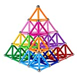 Veatree 178 Pcs Lengthen Magnetic Building Sticks Blocks Toys, Magnet Educational Toys Magnetic Blocks Sticks Stacking Toys Set for Kids and Adult, Non-Toxic Building Toy 3D Puzzle with Storag
