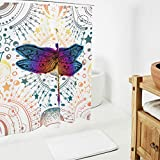 Dofeely Dragonfly Insect Mandala Bedruckt Duschvorhänge Wasserabweisend Vorhang Bad Vorhang 100%...