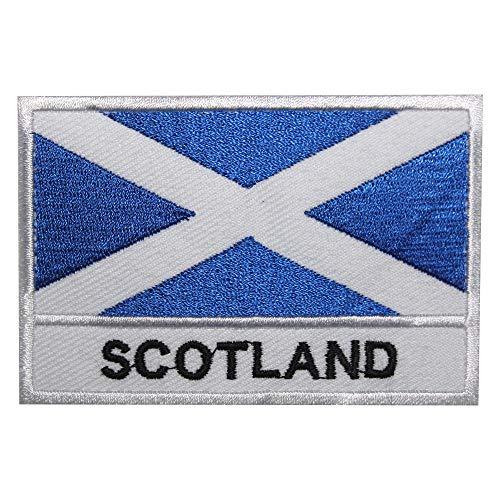 Parche bordado bandera Escocia coser planchar