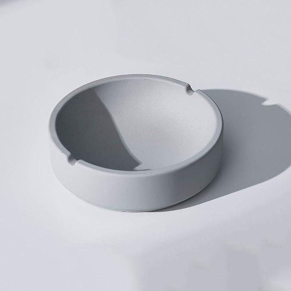 一流ぴったり底家庭用産業風コンクリート灰皿、パーソナライズ屋外灰皿、多人数使用シーンリビングルームオフィスレストラン灰皿装飾 (色 : B, Size : L)