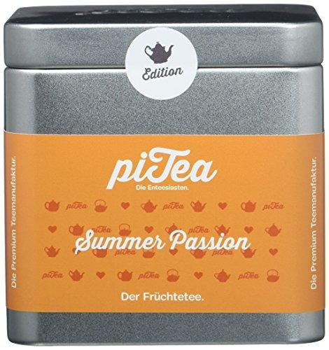 Pi Tea Summer Passion Dose, Früchtetee, Teestation, natürlich und vegan, 2er Pack (2 x 100 g)