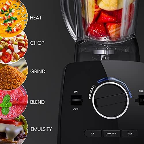 Standmixer Smoothie Mixer, Anthter 2000W Professioneller hochleistungsmixer für die Küche, mit 2L BPA-freiem Behälter, 6-Klingen-Edelstahlmesser, ideal für Smoothies, Milchshakes, Eiszerkleinerung