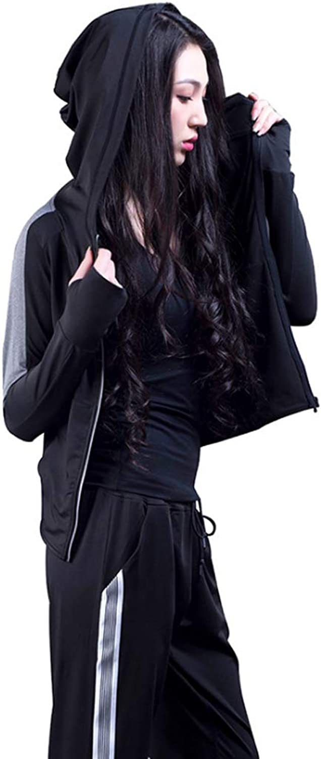 Yoga Clothing Zipper Hooded Jacket Breathable Sports Suit QuickDrying Fitness Clothing Sports Bra Stretch Pants Yoga Clothing ThreePiece Suit (Sports Bra + Jacket + Pants)
