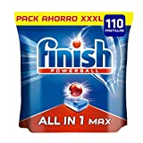 Finish Powerball All in One Max - Pastillas para el lavavajillas Todo en 1 - Formato 110 unidades
