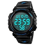 Mens Digital Watch, Mens Sports Watches Waterproof Outdoor Chronograph Multifunctional Watch with LED