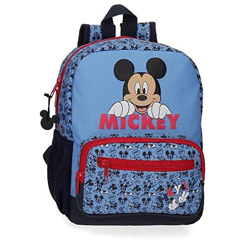 Disney Mickey Moods Sac à dos pour la crèche et la maternelle Rouge 23X28X10 cms Polyester 6.44L