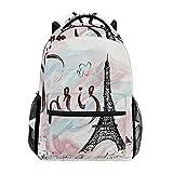 TIZORAX Paris Torre Eiffel mochila escolar bolsa de senderismo mochila de viaje para mujeres y hombres, Mujer, Patrón-1, talla única