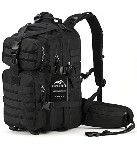RUPUMPACK Military Tactical Assault Backpack, Hydration Backpack by, A