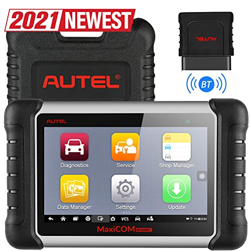 Autel MaxiCOM MK808BT Wireless Diagnostic Tool, 23 Services Functions, with All System Diagnosis, ABS Bleeding, Injector Coding, Oil Reset, EPB, BMS, SAS, DPF, Upgraded of MK808, MX808, 2020 Newest