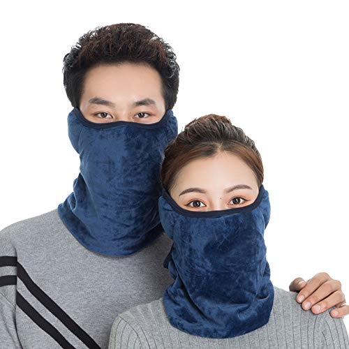 ENCOM Men Thick Neck Gaiter,a Scarf Bandana with Ear Loops Workout Balaclava for Women Ski Helmet Protector Bandanas for Women Workout Equipment for Men 1 Pack Navy Blue