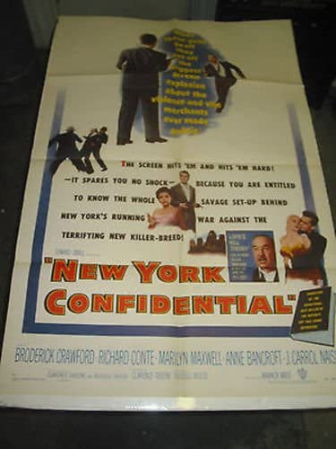 NEW YORK CONFIDENTIAL ORIG Max 57% OFF U.S. 2021 MOVIE BRODERI POSTER ONE SHEET