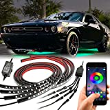 Car Underglow Lights, YCHOW-TECH Underglow Neon Accent Car Lights with App Control, 16 Million Colors, Music Mode, DIY Mode, automotive neon accent light kits for Offroad Truck Car Boats