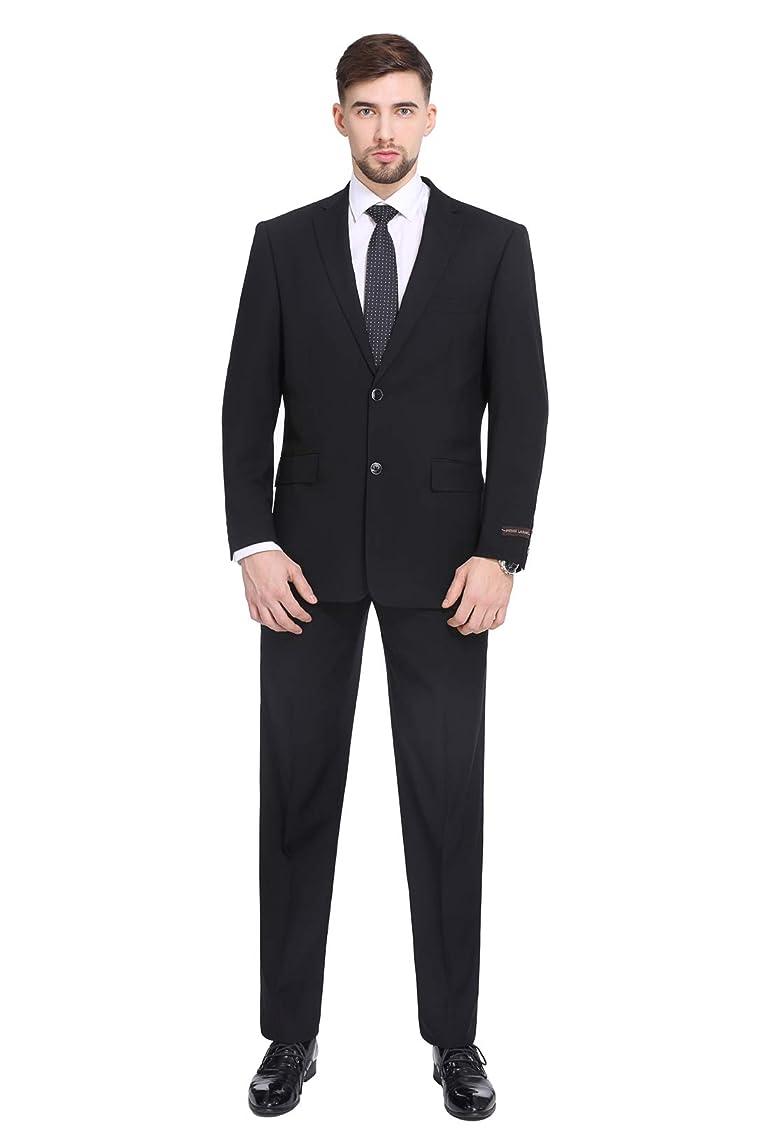 P&L Men's Suit Classic Fit Blazer Jacket Tux Vest & Flat Pants (2 and 3 Pcs Selection)