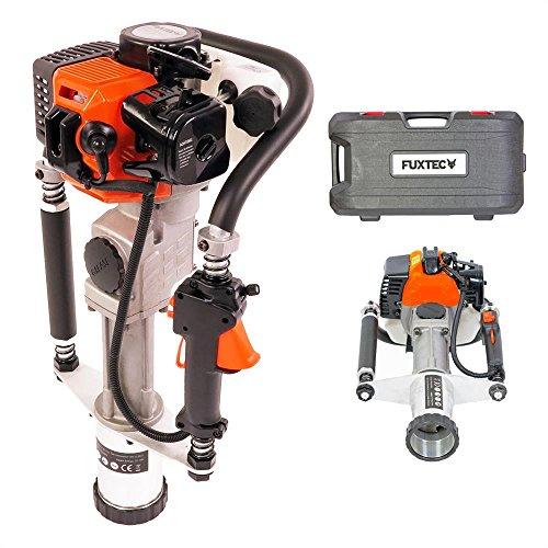 FUXTEC Benzin Pfahlramme FX-PR165 mit 32,7 cm³ Motor inkl. 2 Raumsockelhalterungen von 20-45 und 46-80 mm geeignet für Pfähle aus Holz, Metall und recyceltem Material