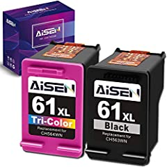 Packaged Contents: Remanufactured HP ink cartridge 61 for 61XL 61 XL ink cartridges combo pack (1 Black and 1 Tri-color) Remanufatured HP ink cartridge 61 work with: Envy 4500 4501 4502 4503 4504 4505, Envy 5530 5531 5532 5534 5535 5539, OfficeJet 26...