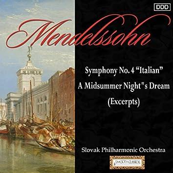 "Mendelssohn: Symphony No. 4 ""Italian"" - A Midsummer Night""s Dream (Excerpts)"
