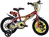 Dinobikes Kinderfahrrad Bicicleta, Niños, Rojo, 14 Pulgadas