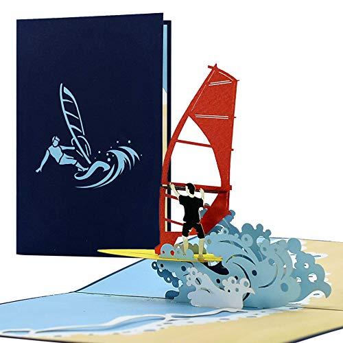 Gutschein oder Geburtstagskarte für Surfer oder Wassersportler | Reisegutschein Strandurlaub|Geschenkidee Geburtstag, Hochzeit, H29
