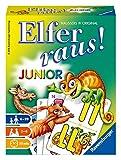 Ravensburger - 20760 Elfer Raus! Junior - Gesellschaftsspiel für 2-6 Spieler, Spiel ab 6 Jahren für Kinder und Erwachsene, Zahlenraum 1-21