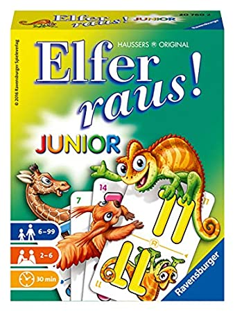 Ravensburger Kartenspiele - Elfer raus! Junior