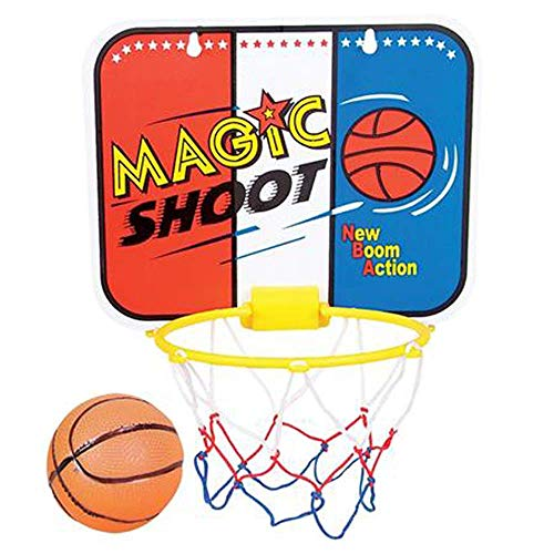 ArtCreativity Magic Shot Mini Basketball Game for Kids, Includes 1 Mini Ball, 1 Backboard Net, & Hanging Stickers, Indoor Basketball Set for Home, Office, Bedroom, Best Gift for Boys and Girls