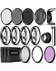 Neewer® 72 mm complete lensfilter accessoireset voor lenzen met 72 mm filtergrootte: UV CPL FLD filterset + macro close-up set (+1 +2 +4 +10) + ND filterset (ND2 ND4 ND8) + andere
