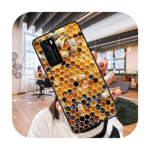 Funda de teléfono para Huawei P4 P10 P30 P20 Lite P Smart Z Pro negro cubierta Prime moda coque silicona Etui Flying animal abeja miel-S1-Huawei P20 Pro