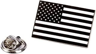 PinAddict Black American Flag Lapel Pin Patriotic Tie Tack United States Emblem