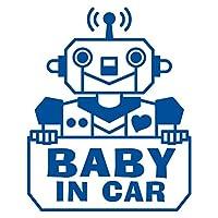 imoninn BABY in car ステッカー 【シンプル版】 No.50 ロボットさん (青色)