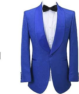 Premium Paisley Floral Flower Premium Slim Fit Tuxedo Prom Party Wedding Groom Suits Blazers Jacket Coat