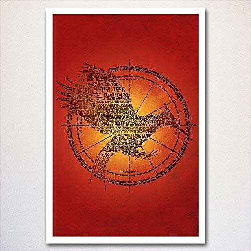 Catching Fire word art poster | typography art | made from quotes | wall home decor | hunger games trilogy