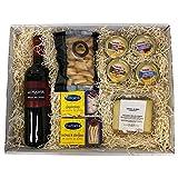 Deliex delicias de Extremadura Pack Picoteo 5 - Vino La Planta, quesos, conservas y Picos