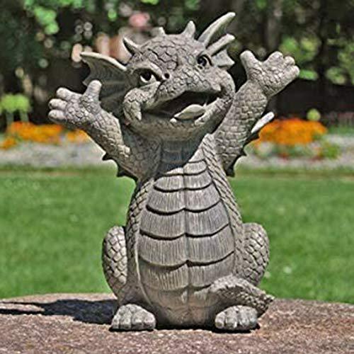 Clmcsf Adornos de Dragones de jardín al Aire Libre, Mysticalls by Mayer Ajedrez Dragón de jardín, Esculturas y estatuas de jardín Dragón, Adorno Decoración de Patio Exterior