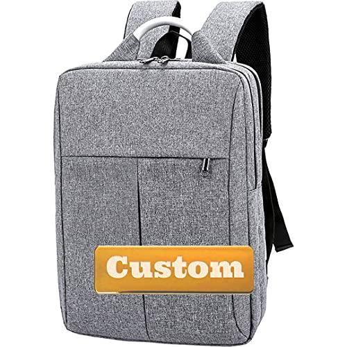 FireH Nome personalizzato Ladies Backpack Best Laptop Laptop Manicotto da 15.6 pollici Slim Organizer (Color : Grey, Size : One size)