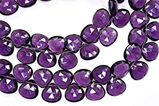 Jewel Beads Natural Beautiful jewellery 7 Inch Strand-12mm-All Pairs Beautiful Purple Amethyst Quartz Faceted Heart Shape Briolette BeadsCode:- JBB-34160