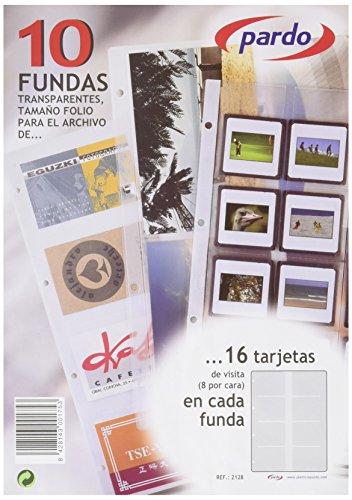 Pardo 212800 - Recambio tarjetero, 10 fundas