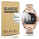 Diruite 4-Pack for Michael Kors Access Bradshaw Tempered Glass Screen Protector for MKT5001/5004/5013 Smart Watch [Anti-Scratch] [Perfectly Fit] [Optimized Version]