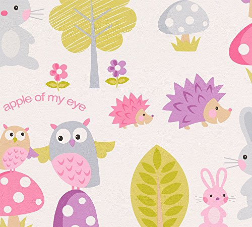 A.S. Création papel pintado de papel Boys & Girls 5 colorido blanco 10,05 m x 0,53 m 935551